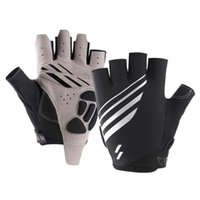 Cycling Gloves Thick Sponge Shockproof Bicycle Sport Breathable Half Finger Riding MTB Mountain Bike Equipment