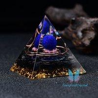 Pyramide orgone pyramide lapis sphère cadeau quartz guérison cristal métatron cube cube collier de pendentif