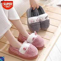 [in stock]Sheep ears rabbit fur fall winter bag root indoor and outdoor home cotton slippers ladies confinement shoes warm snow boots #C36r