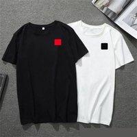2021 New Mens T Shirt European American Popolare Popolare Piccolo Rosso Cuore Stampa Uomo Donna Coppie T-shirt