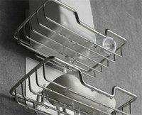 Portaviglie di sapone in acciaio inox fabbrica con adesivo rack vassoio autoadescente saver canestro spugna spugna bagno cucina ZZE5625