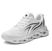 DHGR454 في الهواء الطلق الرياضة أحذية الرجال خفيفة الوزن عداء الشركات أحذية رياضية لهب تحلق المنسوجة outdoosr شبكة جورب الركض المشي الأزرق الأسود