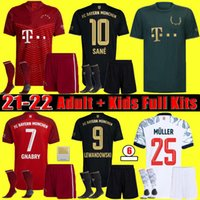 Homens + Kid Kit 21-22 Bayern Gnabry Kimmich Futebol Jersey 2122 Lewandowski Sane Goretzka Munique Edição Especial Coman Muller Davies Camisa Fãs Jogador S-4XL