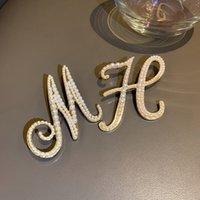Designer Brooches Lettera di perla di alta qualità Spilla Valentine's Day Regalo L-C2