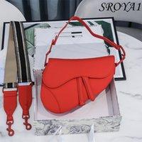 Echtes Leder-Plain-Handtasche 2021 Mode Luxus-Tasche All-Match-One-Umhängetaschen Diagonale Sattelhandtaschen