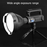 Ao ar livre LED Portable XHP70.2 Tocha USB Recarregável Holofotes impermeável com lanternas de lanternas de luz de pesca
