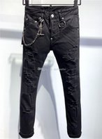 SS20 New Arrival Top Quality D2 Designer Men Denim Cool Guy Jeans Embroidery Pants Fashion Holes Trousers Italy Size 44-5 ocu DSQUARED2