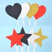 Другие Party Party Party Parts 7PCS / Упаковка Торт Топперы Любовная карта Вставить Блестящий Звездный Флаг Выпечки Выбирает акриловые День Рождения Украшения