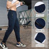 Men's Lulu Yoga Pants Men's Running High Elastic Drying Breathable Anti Splashing Fitness Pocket Sports Leisure Summer