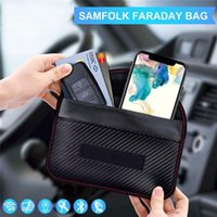 Storage Bags 2021 RFID Bag Cover Case Faraday Cage Pouch For Keyless Car Keys Radiation Protection Cell Phone