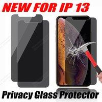 개인 정보 보호 안티 - 엿보는 안티 스파이 2.5D 강화 유리 화면 보호기 아이폰 13 12 미니 프로 최대 11 xr xs 6 7 8 플러스 opp 가방