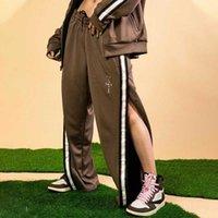 TS Co Marca AJ Pantalones Breasted Pantalones Travis Scott Side Stripe Jumpman Botton Fog High Street Moda JGWN