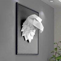 3D Орел Голова Украшения Дома Украшения Аксессуары Животные Абстрактные Скульптура Настенные Декор Декор Статуя Жилая Комната Росписи Арт Craft 210414
