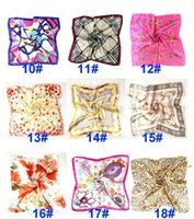 Verano otoño e invierno bufandas pañuelo hembra imitación wersatile profesional pequeño seda seda bufanda OWA4622