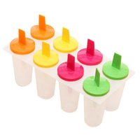 Pişirme Kalıpları 1 ADET DIY Dondurma Kalıp 8 Hücreleri Küp Kalıpları Yaz Popsicle Maker Plats Mutfak Araçları Rastgele Renk Lolly Kalıp