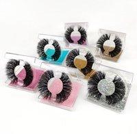 Qualità con Case Dramatic 30mm Punk Eyelashes 3D 4D 5D 6D 7D 100% Crudelty Free Stiberian Mink Fur Etichetta privata