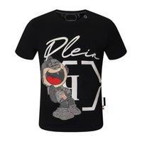 Yaz Kısa Kollu erkek T-Shirt Hip Hop Moda Erkekler O-Boyun Spor Rahat Ince PP Erkekler Kafatasları Baskı Pamuk Streetwear Gömlek Tops