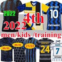 Новый Топ 2021 2022 Интер 4-й Лукаку Lautaro Alexis Soccer Technys 20 21 22 Милан Видаль Барелья Мужчины Детские Наборы Джерси Обучение Футбольные Рубашки Топ