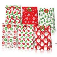 أكياس هدية عيد خمر كرافت ورقة التفاح الحلوى حالة حزب هدية عيد الميلاد سانتا ثلج حقيبة اليد ملفوفة حزمة ديكورات ZZA6905