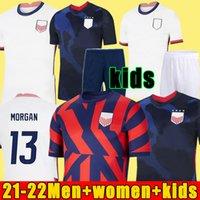 2021 Pulisic McKennie Fussball Jersey Aaronson Musah 2020 Presse Sargent Morgan Lloyd America Football Jerseys Vereinigte Staaten Hemd Camisetas Lletget Deich Men + Kinder