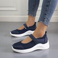 Сандалии женские туфли летом толстые нижние платформы плоские дамы клинья пряжка ремешка повседневная обувь 2021 # T2Q