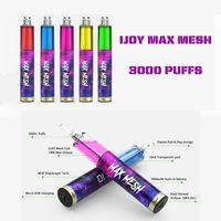 Originale IJoy MAX Mesh Sigarette disappiabili Sigarette VAPE PEN Penna Prezzo 3000 Puffs 10.0ml 5% Capacità FREE 1000 mAh Batteria 8 Colore consegnato 3-7 giorni