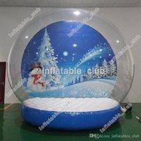 حر سفينة الثلج غلوب للبيع تخصيص نفخ الإنسان الثلوج غلوب للإعلان عيد الميلاد ساحة الثلج غلوب مع منفاخ