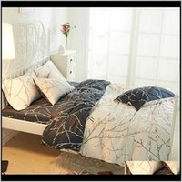 SVETANYA PRINT Ropa de cama Set Queen Completa Twin King Size Shedlinen Conjuntos de cobertura (1pc Funda de edredón + 1pc Suelo de cama + 2pc Pillowcasas) DLY7V 5TE1Q