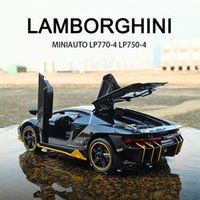 LP770 750 132 Lamborghinis Araba Alaşım Spor Araba Modeli Diecast Ses Süper Yarış Kaldırma Kuyruk Sıcak Araba Tekerlek Çocuklar Için Hediyeler