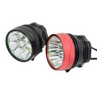 Wasafire 12000LM 8 * XM-L T6 LED Vélo Light 3 modes 8,4 V 9600MAH Pack de batterie Cyclisme Phare de pêche de la peluche de pêche frontale