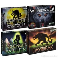 Hot One Night Ultimate Werewolf Board Game Werewolf deluxe edition One Night Ultimate Werewolf Daybreak Alien