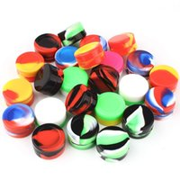 5ML Nonstick Silicone Jar Wax Non Solid Containers Oil Holder Food Grade Dab Storage Mixed Color Free Freight