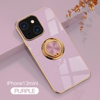 Luxury Electroplating TPU Phone Cases Rotating Ring Holder Kickstand Cover for iphone 13 11 12 pro max Rings Case