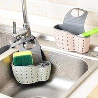 Kitchen Storage & Organization Accessories Utensils Organizer Adjustable Snap Sink Soap Sponge Holder Hanging Drain Basket Gadgets