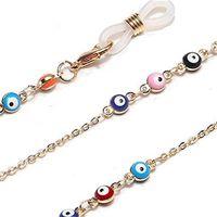 Lonckeeper Kristal Boncuk Gözlük Zinciri Kadınlar için Moda İpi Altın Metal Sunglassses Zincirler Kayış Maske Kordon Gözlük Tutucu1 816 Q2