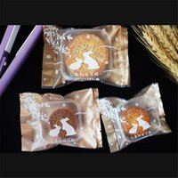 Gift Wrap 100PCS Golden Chinese Elements Mooncake Cookies Packaging Bags Traditional Festival Candy Pouch Party Supply