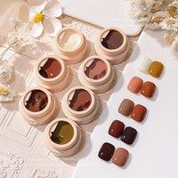 Nail Gel 5ml Cream Polish Quick Drying Long Lasting Color UV Pudding DIY I2M5