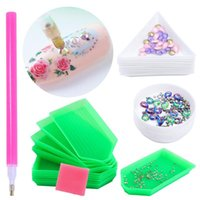 Kits de arte de uñas kit de conjunto de manicura de diamantes de diamante Punto de selección Pegamento Pega Pegada de lodo Pegatina de lodo Caja de almacenamiento de plástico Accesorios de brillo LA992-1