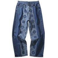 Мужские джинсы фантазии Киряаки из хлопчатобумажных брюк, мужчина, высокий, роскошный, кашемир, западное побережье, крики, повседневная, удобные, прямые размеры, # D16 F9M7