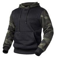 Men's Hoodies & Sweatshirts Verde Do Exército Dos Homens Camuflagem Militar Outono Inverno Com Capuz Camisolas Masculino Camo Hip Hop Stre