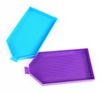 Opbergdozen Bakken Plastic Boorplaat Dienblad met Poort DIY Diamant Schilderen Borduurwerk Accessoires Bead Sorteerladen Rhinestone LLA5359