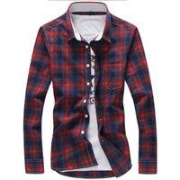 Erkek Casual Gömlek 5XL Ekose Mannen Geruit Gömlek Merk 2021 Nieuwe Modu Düğme Aşağı Lange Mouwen Artı Boyutu Bırak