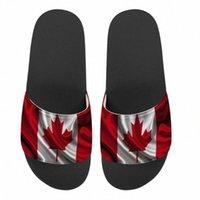 Männer Frauen Custom Design Hausschuhe Kanada Flagge Druck Sommer Mode Slide Sandalen Outdoor Rutschfeste Strandschuhe Plattform Flip Flops B3RD #