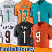 9 جو غرارو جيرسي 1 Tua Tagovailoa Jerseys 17 Jaylen Waddle Jersey 1 Ja'marr Chase Jerseys Reback 13 Dan Marino Football Jersey