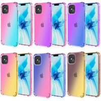 TPU Gradient Dual Color Transparent Shockproof Soft Phone Cases protective cover for iPhone 13 12 11 Pro Max XR XS 8 7 6 Plus Samsung Galaxy S10 S20 Note10 Note9