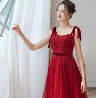 Vestidos de festa vestidos vermelhos cinto fashion fashion fashiondress vestido de host de luxo6249 para mulheres casamento vestido formal