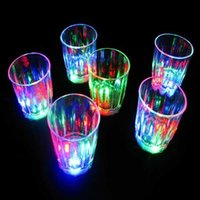 Colorido piscando s vidro led plástico luminoso copo festa de aniversário noite bar bebida bebida vinho flash pequeno dbj3 w9c2