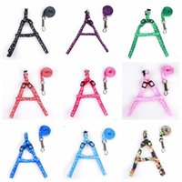 Dog Harness Leashes Pet Necklace Rope Tie Collar Nylon Printed Adjustable Puppy Cat Animals Accessories 1.0*110cm