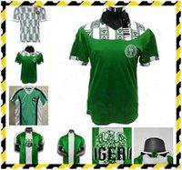 1994 1996 1998 Retro Edition # 10 Okocha 축구 유니폼 홈 # 4 Kanu # 6 West # 9 Yekeni Shirts # 15 Oliseh 반팔 축구 유니폼 S-XXL