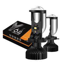 Araba Farlar Stil LED Far Lens H4 Küçük Balık Göz Y6 Mini Projektör